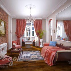 Трехкомнатная квартира в классическом стиле