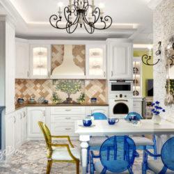 Проект 3-комнатной квартиры — прованс. Средиземноморский стиль