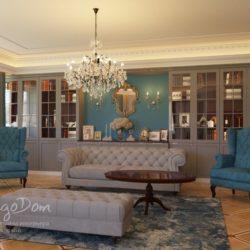 Дизайн квартиры в 2х стилях: лофт и классика