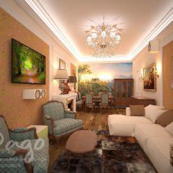 Дизайн 3х комнатной квартиры в классике