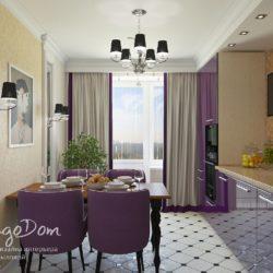 Трехкомнатная квартира в светлых тонах